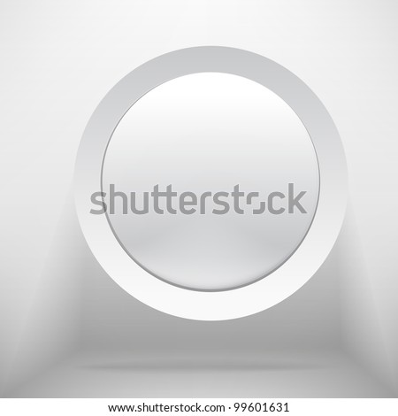 White circle plastic buttons background - vector illustration - stock vector