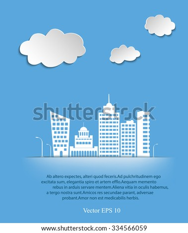 White city concept vector illustration. Can be used for web design and work flow layout - stock vector