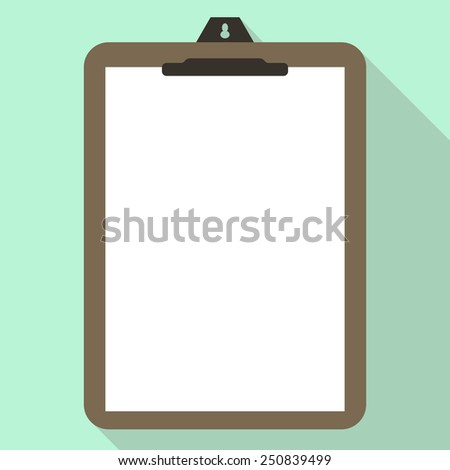 white clipboard with check list - stock vector