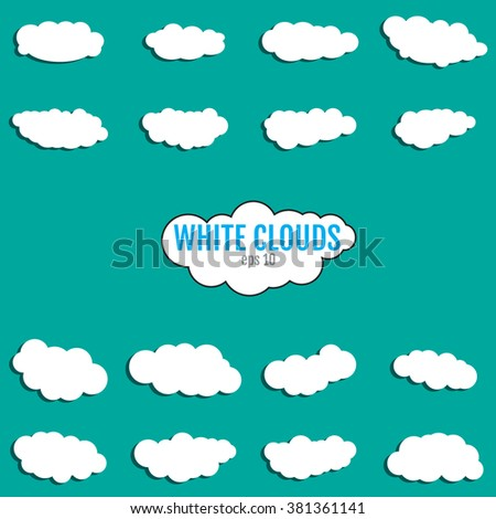 white clouds Icon Vector, EPS. White clouds Icon JPEG, JPG. White clouds Icon Object. White clouds  Icon Picture. White clouds Icon Image. White clouds Icon Graphic. White clouds Icon Art. - stock vector