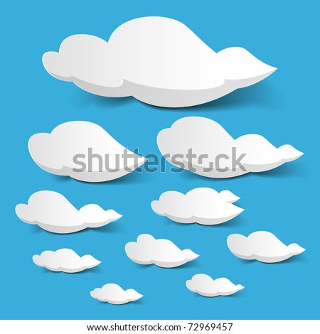 White clouds. Vector. - stock vector