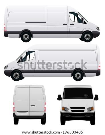 White Commercial Vehicle - Van No 2 - stock vector