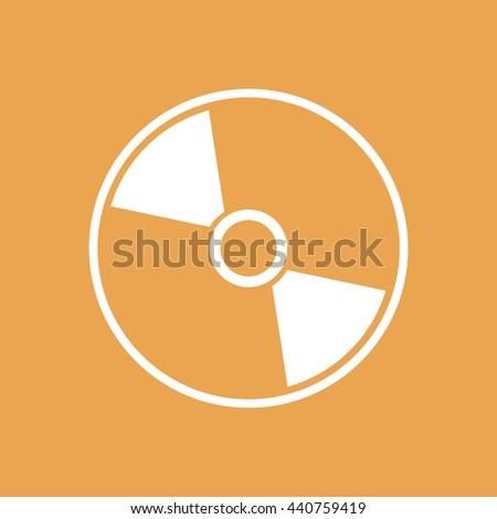 White compact disc icon. CD / DVD vector illustration - stock vector