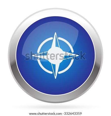 White Compass Rose icon on blue web app button
