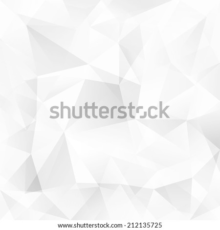 White crystal triangles vector abstract background - stock vector