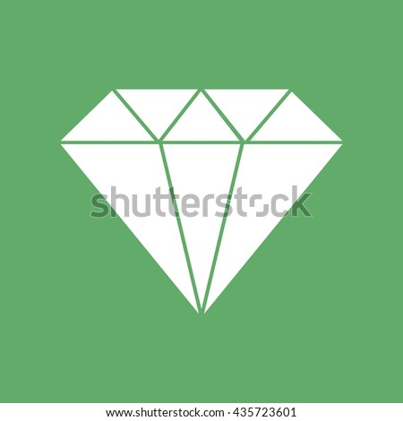 White diamond icon vector illustration