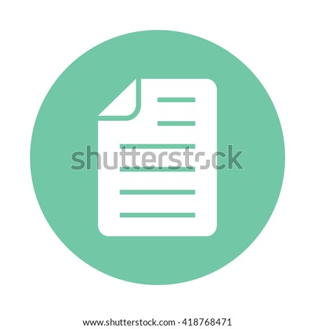 White Document paper icon vector illustration - stock vector