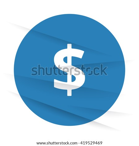 White Dollar icon label on wrinkled paper