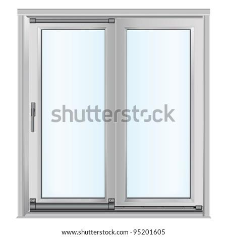 White Doors Glass Panels Stock Vector 95201605 Shutterstock