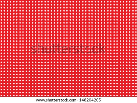 White Dots on a Red Background. Vector