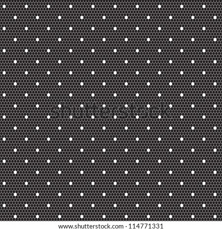 White elegant dotted lace seamless vector pattern - stock vector
