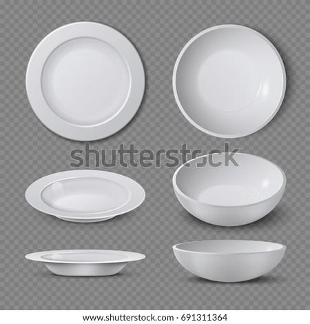 White Empty Ceramic Plate Different Points Stock Vector 691311364 - Shutterstock  sc 1 st  Shutterstock & White Empty Ceramic Plate Different Points Stock Vector 691311364 ...
