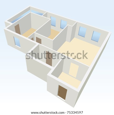 white empty flat planning vector - stock vector