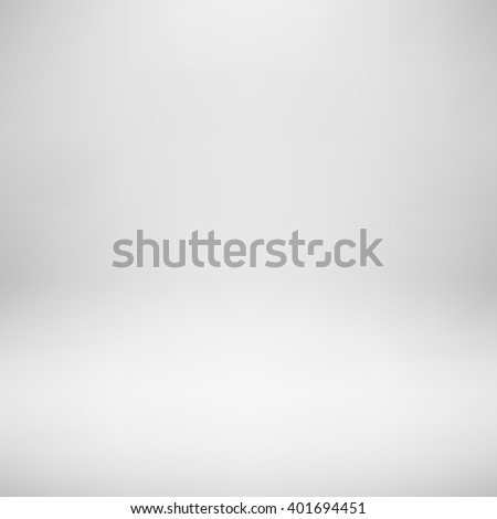 White empty photo studio backdrop background with realistic light for design concepts, presentations, posters, banners, web, wallpapers and prints. Vector illustration. - stock vector