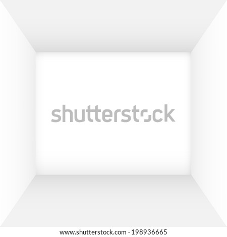 White empty room with clean walls - stock vector