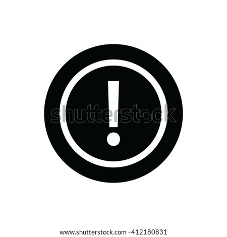 White exclamation mark vector sign.  - stock vector