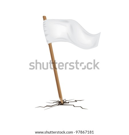 white flag - stock vector