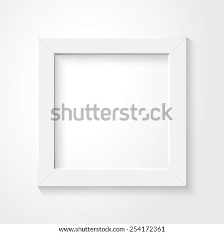 white frame - stock vector