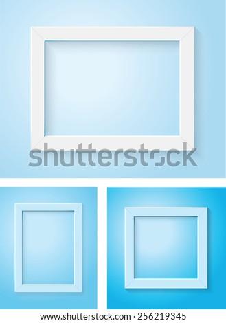 white frame - stock vector
