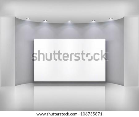 White frame.  Vector illustration. - stock vector