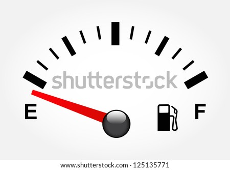 White gas tank illustration on white - stock vector