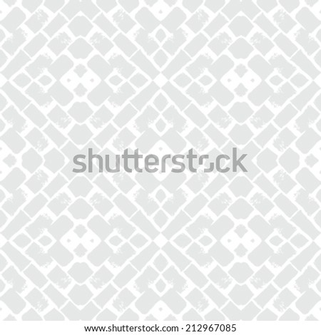 White geometric texture in art deco style for Christmas and holiday decor or wedding invitation background. Seamless vector pattern for winter fashion - stock vector