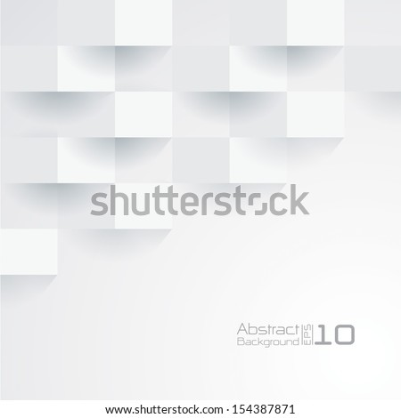 White geometric texture. Vector background - stock vector