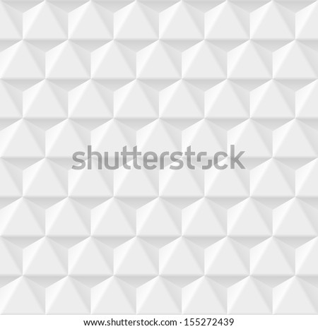 White geometric texture. Vector seamless background - stock vector