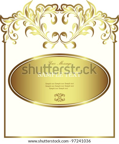 White gold-framed label