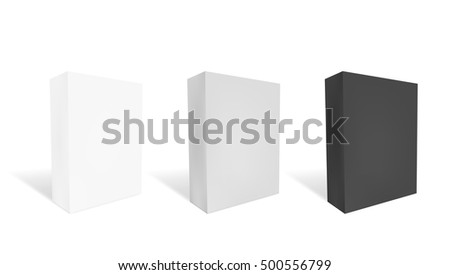 White, Gray And Black Boxes Ready For Your Design. EPS10 Vector