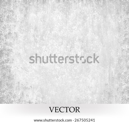 white gray background vector. old distressed vintage texture - stock vector