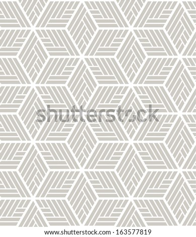 White, gray modern geometric texture. A seamless vector background. - stock vector