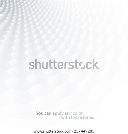 White & grey abstract perspective background - stock vector