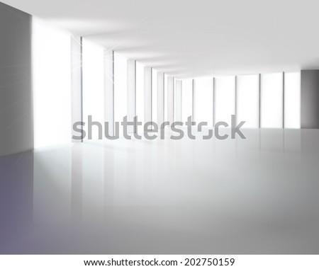 White hall. Vector illustration. - stock vector