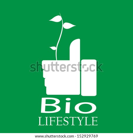 ... plant, explanatory text in white, green background. - stock vector