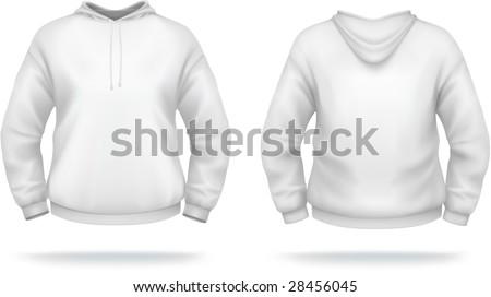 White Hoodie Design Template Front Back Stock-Vektorgrafik 28456045 ...