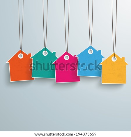 White house price sticker on the grey background. Eps 10 vector file. - stock vector
