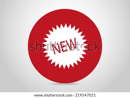 white icon on a red circle - stock vector