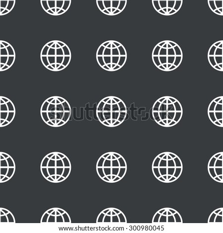 White image of globe symbol repeated on black background