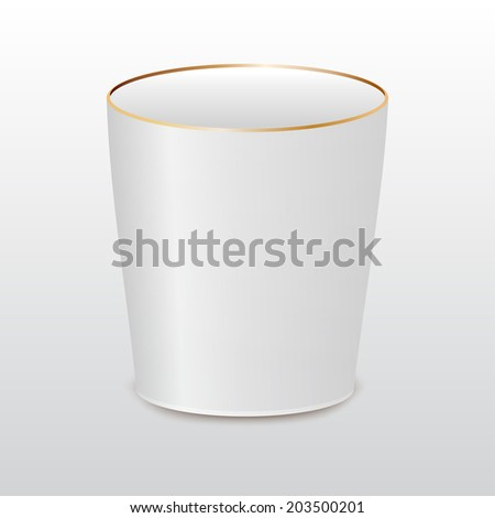 White isolated cup - stock vector