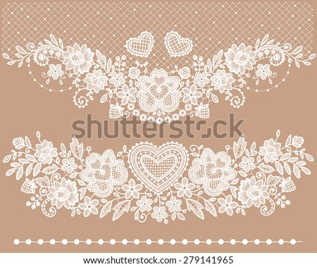White lace Clip art. - stock vector