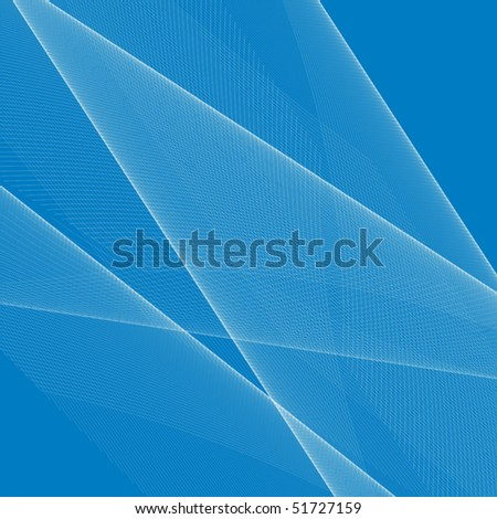 White lines on blue background