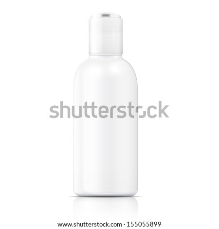 White lotion bottle template. - stock vector