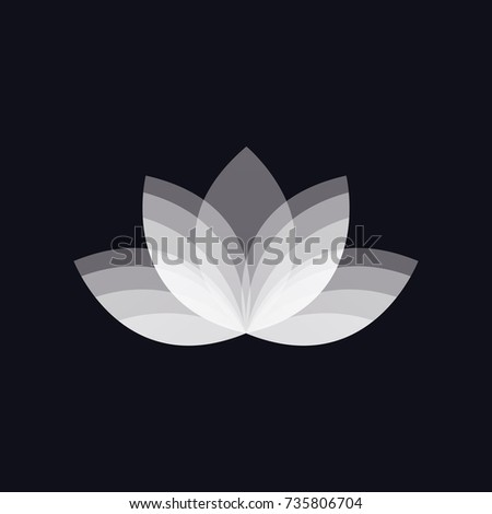 White lotus flower logo