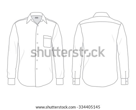 formal attire template - formal shirt stock images royalty free images vectors