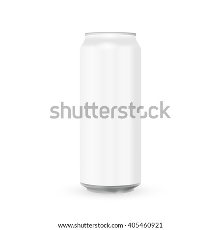 White Metal Aluminum Beverage Drink Can 500ml. Mockup Template Ready For Your Design. Isolated On White Background. Product Packing. Vector EPS10 Product Packing Vector EPS10