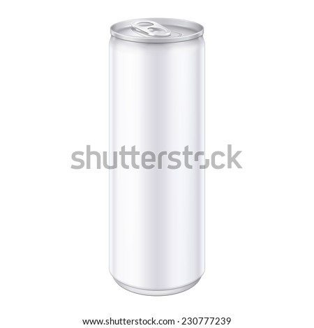 White Metal Aluminum Beverage Drink Can. Ready For Your Design. Product Packing Vector EPS10  - stock vector