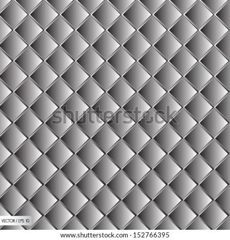 White metal texture, seamless - stock vector