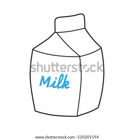 White Milk Carton Template Icon Stock Vector 520201594 - Shutterstock