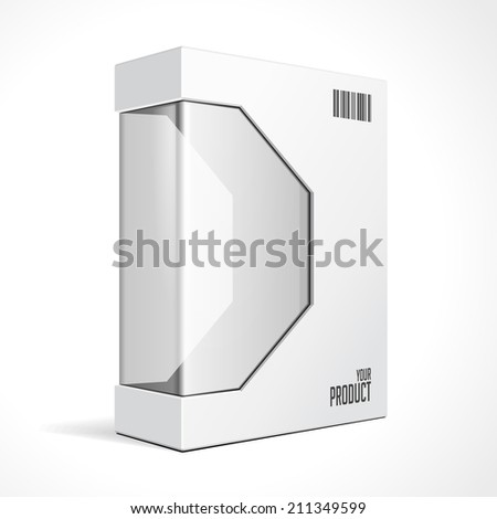 White Modern Software Package Box For DVD, CD Disk Or Other Your Product EPS10  - stock vector